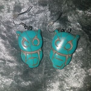Turquoise Earrings owls